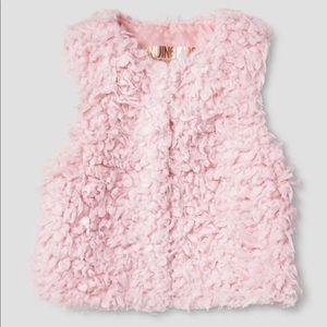 Adorable fuzzy pink vest